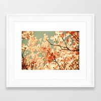 green Framed Art Prints featuring Pink by Olivia Joy StClaire