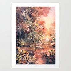 Sunset Forest Art Print