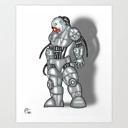 Robot Series - Clown Model Art Print
