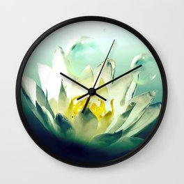 Ocean's Lotus Wall Clock