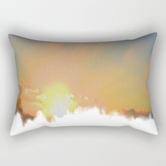Sunset Lake Murray, La Mesa, California (Copyright) Rectangular Pillow
