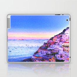 Twilight Over Positano, Italy Laptop & iPad Skin