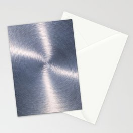 Silver Metallic Stainless Steel Pattern Stationery Cards