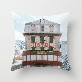 Hotel Belvedere, Switzerland Throw Pillow