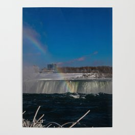 rainbow at the edge Poster