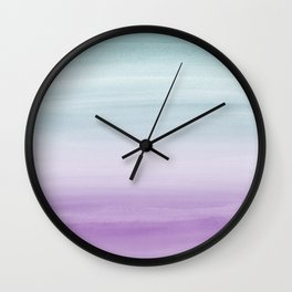 Touching Mermaid Girls Watercolor Abstract #1 #painting #decor #art #society6 Wall Clock