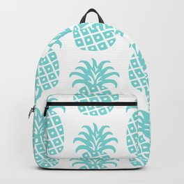 Retro Mid Century Modern Pineapple Pattern 731 Turquoise Backpack