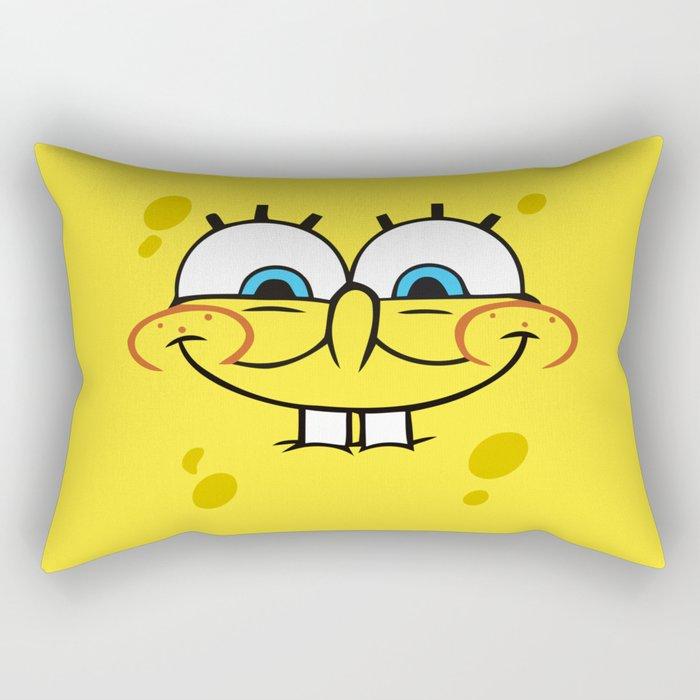 Spongebob Naughty Face Rectangular Pillow