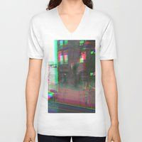 urban V-neck T-shirts featuring Urban by Jane Lacey Smith