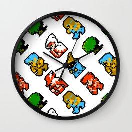 Final Fantasy (NES) pattern Wall Clock