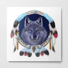 DREAM WOLF Metal Print