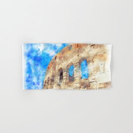 part of the Colosseum, Rome, Italy, summer Hand & Bath Towel