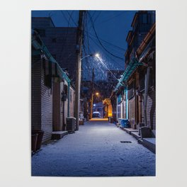 Snowy Seoul Homes Poster