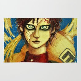 inspired by Gaara of the sand Rug
