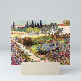 Vincent Van Gogh Flowering Garden Mini Art Print