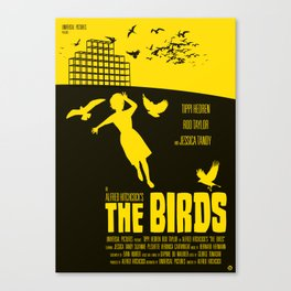 Alfred Hitchcock's The Birds Canvas Print