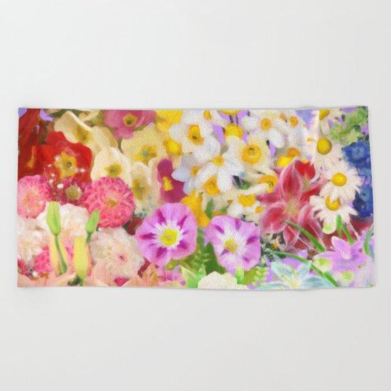 Flower Arrangement Beach Towel