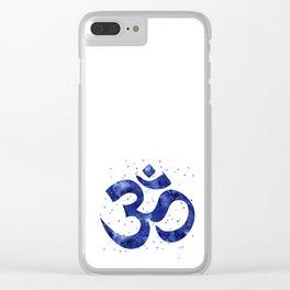 Ohm Symbol Blue Clear iPhone Case