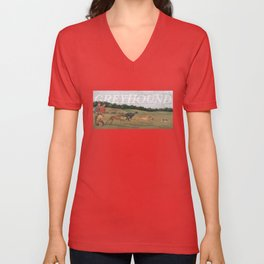 Greyhound Unisex V-Neck