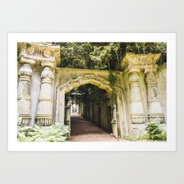 Highgate Cemetery, London - West Cemetery Art Print