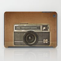 camera iPad Cases featuring CAMERA by Monika Strigel