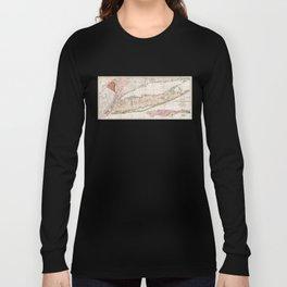 Long Island New York 1842 Mather Map Long Sleeve T-shirt
