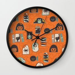 Halloween windows Wall Clock