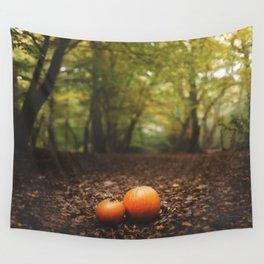 Family Pumpkin Wall Tapestry