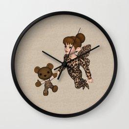Little Girl Fairy Baby Bear Wall Clock