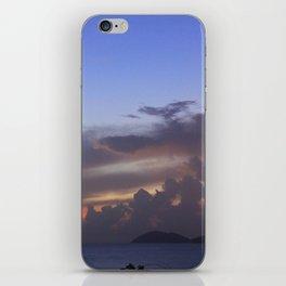 Island Sunset Clouds iPhone Skin
