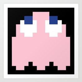 8-Bits & Pieces - Pinky Art Print