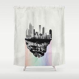 þar á bak við hæðirnar Shower Curtain