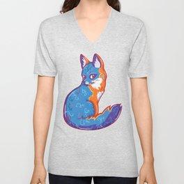 Magical Gray Fox Unisex V-Neck