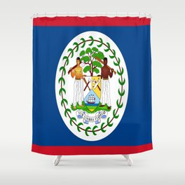 flag of belize-Belice, Belizean,Belize City,beliceno,Belmopan Shower Curtain