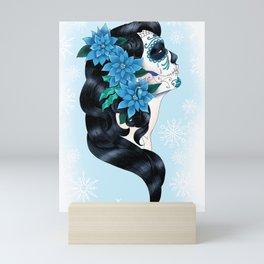 Winter Sugar Skull Mini Art Print