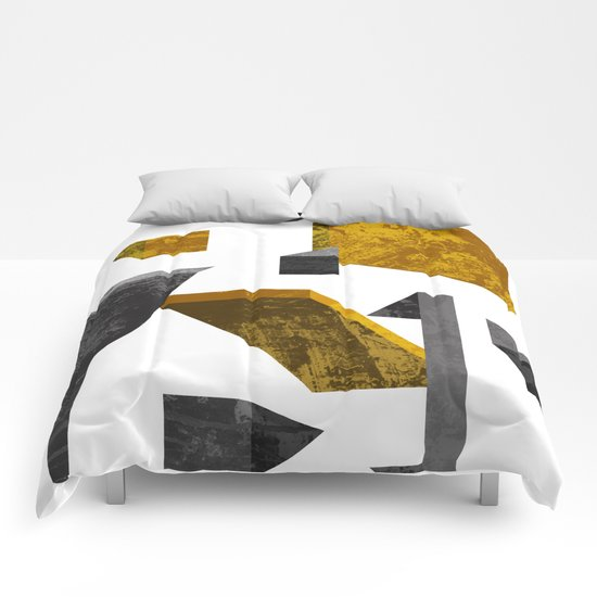Geometric poster Comforters