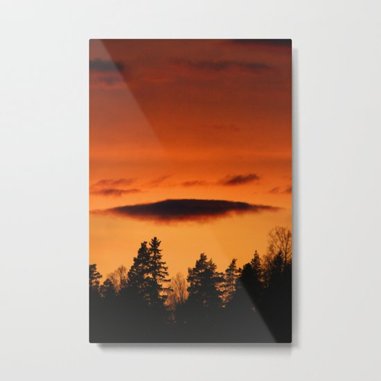 Beautiful Glowing Sky Metal Print