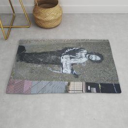 Banksy Hitchhiker to Anywhere Rug