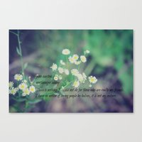 jane austen Canvas Prints featuring Friends Jane Austen by KimberosePhotography