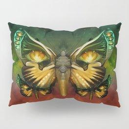 """""""Dark butterflies flying over a sky of fire"""" Pillow Sham"""