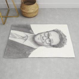 Seth Rogen Pencil drawing Rug