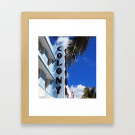 Colony Hotel: Miami Art Deco Framed Art Print