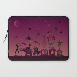 colorful circus carnival traveling in one row at night Laptop Sleeve