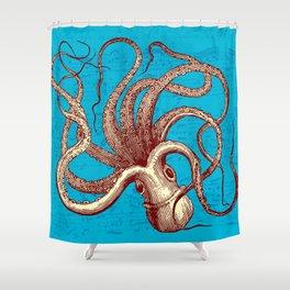 Vintage Octopus Music Sheet Shower Curtain