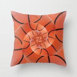 Droste Basketball Spiral  Throw Pillow