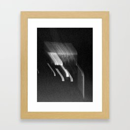 Being at the Drive-In B/W Framed Art Print