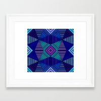 tapestry Framed Art Prints featuring Tapestry  by Truly Juel