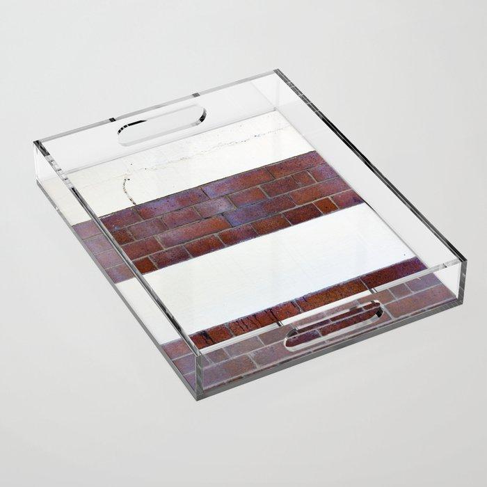 Brick Wall Acrylic Tray