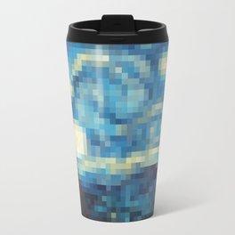 Pixelized Night Travel Mug