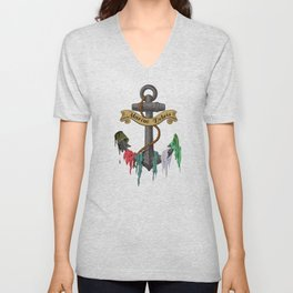 Rubbish by the Sea (clear sky) Unisex V-Neck